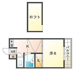 サンモリツ[2階]の間取り
