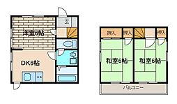 [一戸建] 神奈川県相模原市中央区淵野辺5丁目 の賃貸【神奈川県 / 相模原市中央区】の間取り