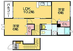 クレメントヒル[2階]の間取り
