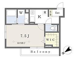 JR総武線 東船橋駅 徒歩7分の賃貸アパート 3階1Kの間取り