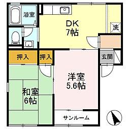 OKAMOTO5[101号室]の間取り
