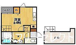 Crane HAKATA PREMIUM(クレインハカタプレミアム)[1階]の間取り