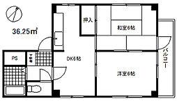 山田ビル[4階]の間取り