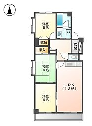エスポワール五反田[3階]の間取り