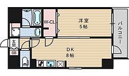 エステムコート北堀江[11階]の間取り