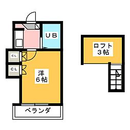エスポアール鳴海[2階]の間取り