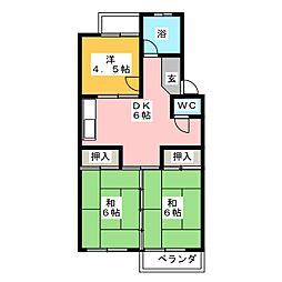 杉本ビル[4階]の間取り