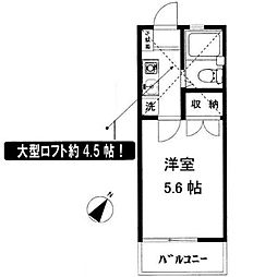 辻堂ニューエスタ21[202号室]の間取り