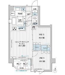 カスタリア目黒平町[2階]の間取り