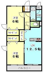 シーショア共栄[4階]の間取り