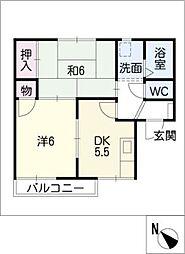 エクセレント・サンA,B[1階]の間取り