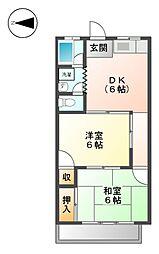 カ−サマツオカ[1階]の間取り