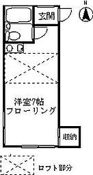 コーポ染谷[303号室]の間取り