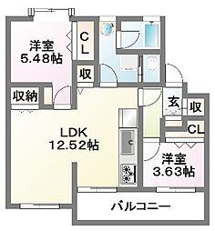 第2仲村マンション[303号室]の間取り