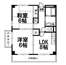 ライフステージ新大阪[106号室]の間取り