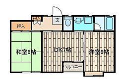 メゾンE&I[2階]の間取り