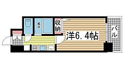 エステムプラザ神戸水木通グランクロス[906号室]の間取り