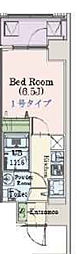 Osaka Metro千日前線 阿波座駅 徒歩3分の賃貸マンション 5階1Kの間取り