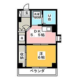 シティハイツ万豊[4階]の間取り