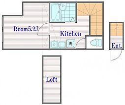 リトルタウン西台[2階]の間取り