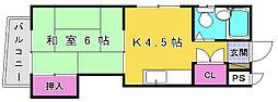 ピロ小倉I[202号室]の間取り