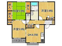 葛城gardensC[1階]の間取り
