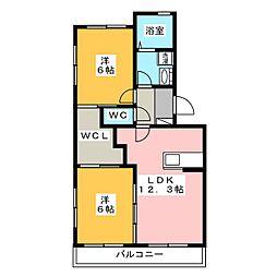 ラ・グランドメゾン2[3階]の間取り