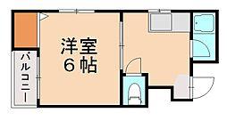 リベラルコーポ[1階]の間取り