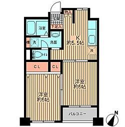 東京都中央区勝どき6丁目の賃貸マンションの間取り