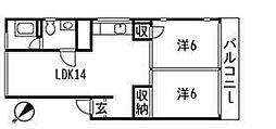 室積マンション[401号室]の間取り