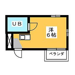 フォレスト伊勝町[3階]の間取り