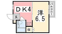 ケーエス東加古川[302号室]の間取り