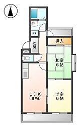 アイオ−マンション[5階]の間取り
