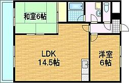 第36長栄ガーデンハイツヤマキ[5階]の間取り