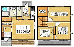 シャーメゾン上野芝[1階]の間取り