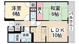 ローズマンション[407号室]の間取り