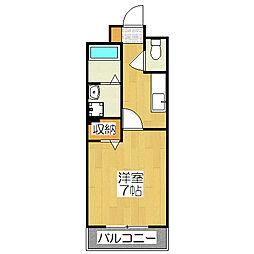 京都府京都市北区小山下総町の賃貸アパートの間取り