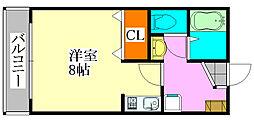 ルミエール小倉[2階]の間取り