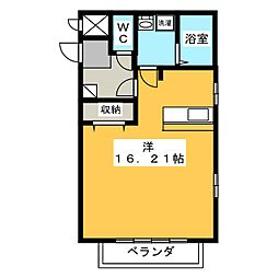 コンフォート幸[2階]の間取り