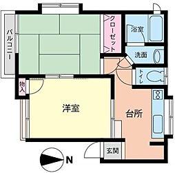 神奈川県横浜市中区石川町4丁目の賃貸アパートの間取り