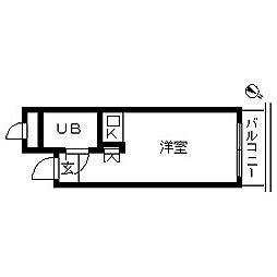 東京都港区南青山7丁目の賃貸マンションの間取り