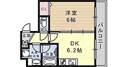 JR東海道・山陽本線 六甲道駅 徒歩7分の賃貸マンション 4階1DKの間取り