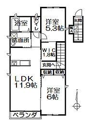 相生町新築シャーメゾン[201号室]の間取り