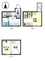 愛知県名古屋市港区九番町5丁目の賃貸アパートの間取り