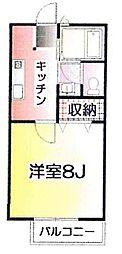 茨城県水戸市見川3丁目の賃貸アパートの間取り