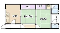 丸岡文化[203号室]の間取り