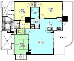 エンブルステーション富士[7階]の間取り