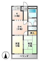 セントラルパーク A ・ B[2階]の間取り