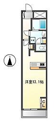 ロイジェント栄[4階]の間取り