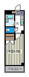 東京都足立区千住河原町の賃貸マンションの間取り